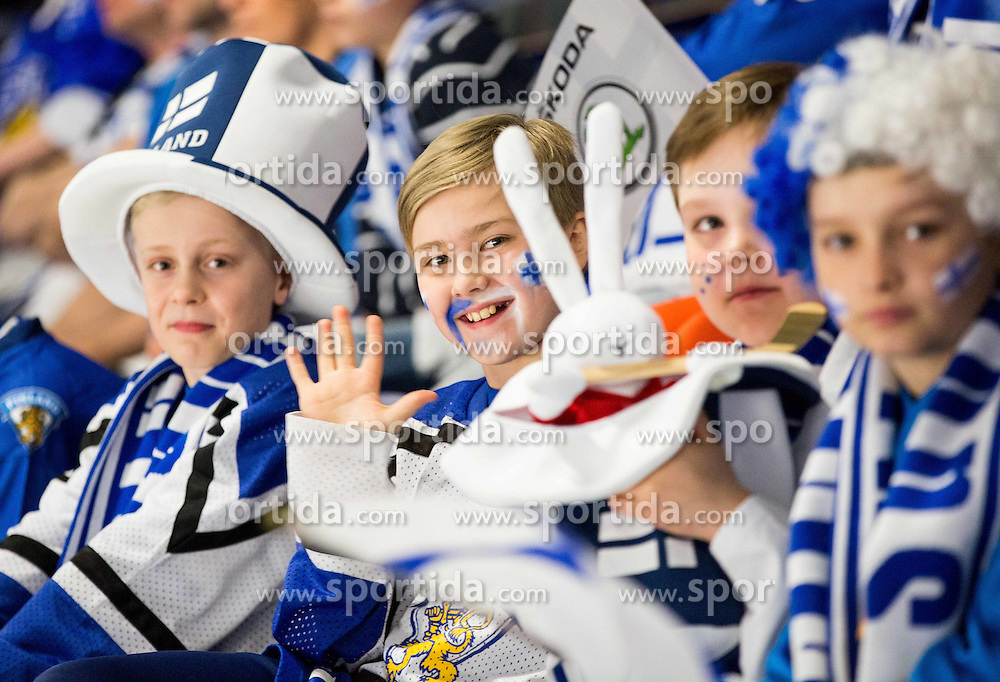 Finnish fans during Ice Hockey match between Norway and Finland at Day 4 in Group B of 2015 IIHF World Championship, on May 4, 2015 in CEZ Arena, Ostrava, Czech Republic. Photo by Vid Ponikvar / Sportida