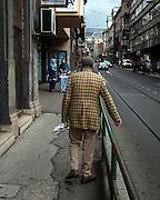 Elderly man in Sarajevo, Bosnia
