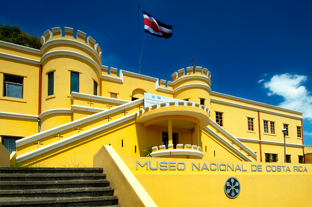 Costa Rica, San Jose, National Museum, Former Army Barracks, Bellavista Fortress, Costa Rican Flag