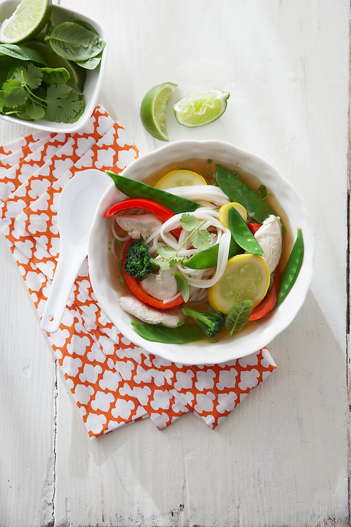15-Minute Coastal Recipe: Ginger-Chicken Noodle Bowl