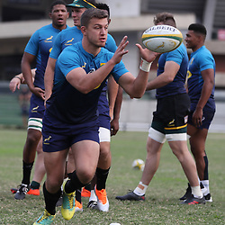 DURBAN, SOUTH AFRICA - AUGUST 13: Handre Pollard during the South African national rugby team training session at  Jonsson Kings Park on August 13, 2018 in Durban, South Africa. (Photo by Steve Haag/Gallo Images)