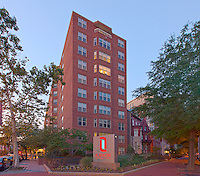 Architectural photography of Latrobe Apartments in Washington DC by Jeffrey Sauers of Commercial Photographics