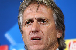 October 17, 2017 - Turin, Piedmont, Italy - Jorge Jesus, head coach of Sporting CP, speaks during the Sporting CP press conference on the eve of the UEFA Champions League (Group D) match between Juventus FC and Sporting CP at Allianz Stadium on 17 October, 2017 in Turin, Italy. (Credit Image: © Massimiliano Ferraro/NurPhoto via ZUMA Press)