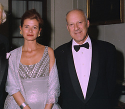 SIR NORMAN & LADY FOSTER, he is the leading architect,  at a dinner in London on 2nd October 1997.MBW 11 2oro