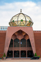 Exterior of Glasgow Central Mosque in Scotland United Kingdom