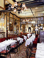 The interior of Rules restaurant in London. Photographed on 6X7 transparency film.