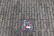 no bicycle parking pictogram Amsterdam Holland