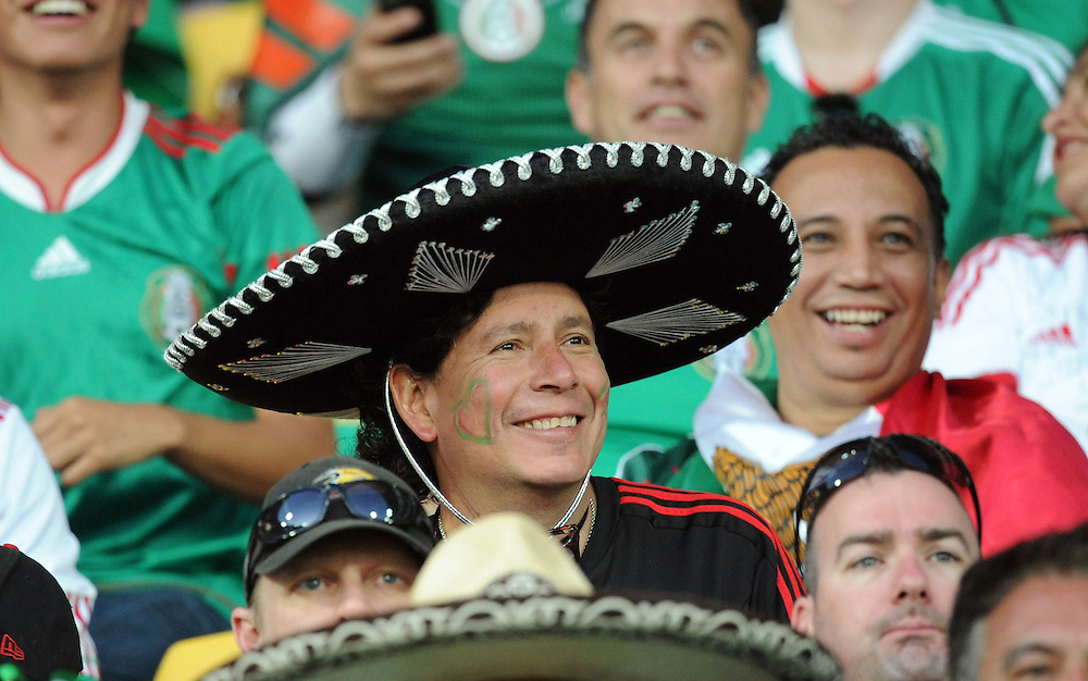 Mexican fans at the Mexico New Zealand  match in the World Cup Football qualifier, Westpac Stadium, Wellington, New Zealand, Wednesday, November 20, 2013. Credit:SNPA / Ross Setford