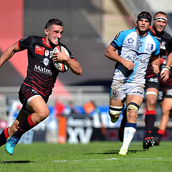 Baptiste Couilloud of Lyon during the French Top 14 match between Lyon OU and Montpellier Herault Rugby on September 15, 2018 in Lyon, France. (Photo by Romain Lafabregue/Icon Sport)