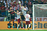 Poland's goalkeeper Wojciech Szczesny in action during the EURO 2016 qualifying match between Poland and Germany on October 11, 2014 at the National stadium in Warsaw, Poland<br /> <br /> Picture also available in RAW (NEF) or TIFF format on special request.<br /> <br /> For editorial use only. Any commercial or promotional use requires permission.<br /> <br /> Mandatory credit:<br /> Photo by © Adam Nurkiewicz / Mediasport