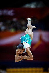 November 2, 2018 - Doha, Qatar - Oksana Chusovitina of  Uzbekistan   during  Vault for Women at the Aspire Dome in Doha, Qatar, Artistic FIG Gymnastics World Championships on 2 of November 2018. (Credit Image: © Ulrik Pedersen/NurPhoto via ZUMA Press)