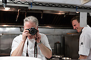 New York, NY - 27 May 2014. CHef Chip Smith, The Simone, urning the tables on me.