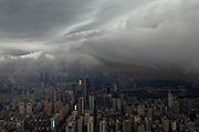 SHENZHEN, CHINA - APRIL 02: (CHINA OUT)<br /> <br /> Rainstorms Hit China<br /> <br />  Dark clouds hangs over Shenzhen city on April 2, 2014 in Shenzhen, Guangdong Province of China. At least 21 people have died and four are reported missing after a weekend of heavy rainfall in south China, according to China's Ministry of Civil Affairs on Tuesday. <br /> ©Exclusivepix