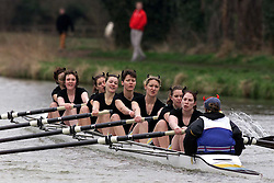 The Lent Bumps on the River Cambridge ..CCATS, Ladies team in the 2nd division race,  March 2, 2000. Photo by Andrew Parsons / i-images..