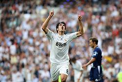 Real Madrid's Kaka celebrates goal during La Liga match.September 2 2009.