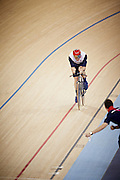 Mark Colbourne takes Silver in the Men's Kilo C 1-3 in the Velodrome on Day 1 of the London 2012 Paralympic Games. 30th August 2012.