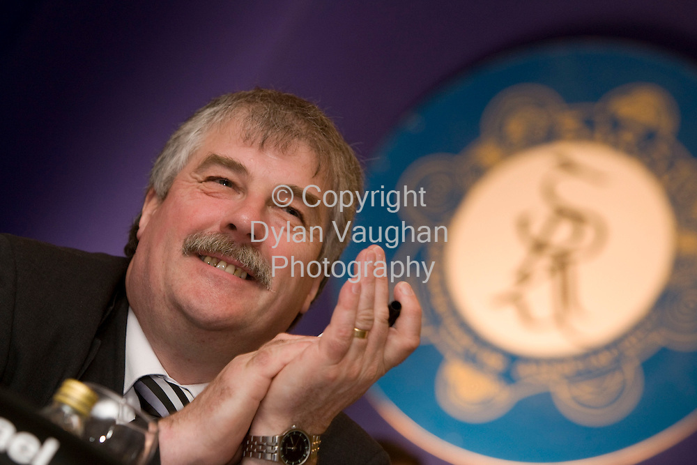 30/4/2008.Pictured at the Garda Representative Association 30th annual delegate conference at the Mount Wolseley Hotel in Tullow county Carlow was Michael O' Boyce, incoming president of the GRA..Picture Dylan Vaughan