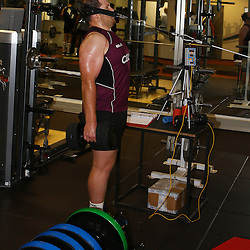 DURBAN, SOUTH AFRICA, 12 November 2015 -  Lourens Adriaanse during The Cell C Sharks Pre Season GYM training for the 2016 Super Rugby Season at Growthpoint Kings Park in Durban, South Africa. (Photo by Steve Haag)<br /> images for social media must have consent from Steve Haag
