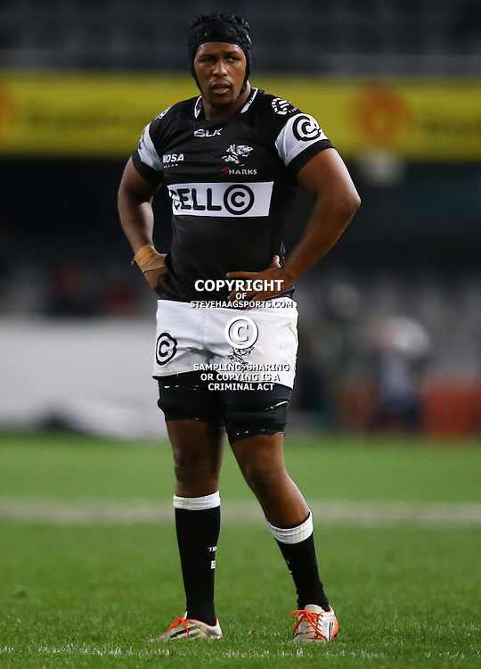 DURBAN, SOUTH AFRICA - SEPTEMBER 10: Khaya Majola of the Cell C Sharks during the Currie Cup match between the Cell C Sharks and Toyota Cheetahs at Growthpoint Kings Park on September 10, 2016 in Durban, South Africa. (Photo by Steve Haag/Gallo Images)