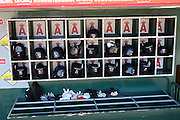 ANAHEIM, CA - AUGUST 24:  Batting helmets and gloves are ready and waiting for the Los Angeles Angels of Anaheim game against the Minnesota Twins at Angel Stadium on August 24, 2008 in Anaheim, California. The Angels defeated the Twins 5-3. ©Paul Anthony Spinelli