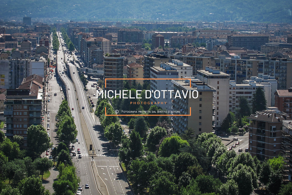 Torino, panoramica aerea di corso Grosseto