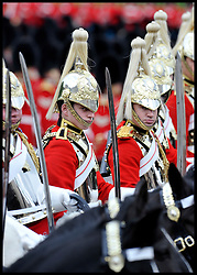 Members of the The Life Guards take part in the Queen's Trooping of the Colour, The Queen's Birthday Parade, on Horse Guards Parade, Saturday June 16, 2012. Photo by Andrew Parsons/i-Images..All Rights Reserved ©Andrew Parsons/i-Images .See Special Instructions