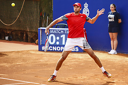 April 23, 2018 - Barcelona, Spain - BARCELONA, SPAIN - APRIL 23: Ivo Karlovic from Croatia during the Barcelona Open Banc Sabadell 66º Trofeo Conde de Godo at Reial Club Tenis Barcelona on 23 of April of 2018 in Barcelona. (Credit Image: © Xavier Bonilla/NurPhoto via ZUMA Press)