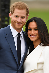 Photocall to mark the engagement of Prince Harry and Meghan Markle at The Sunken Garden, Kensington Palace, London, UK, on the 27th November 2017. 27 Nov 2017 Pictured: Photocall to mark the engagement of Prince Harry and Meghan Markle at The Sunken Garden, Kensington Palace, London, UK, on the 27th November 2017. Picture by James Whatling. Photo credit: James Whatling / MEGA TheMegaAgency.com +1 888 505 6342