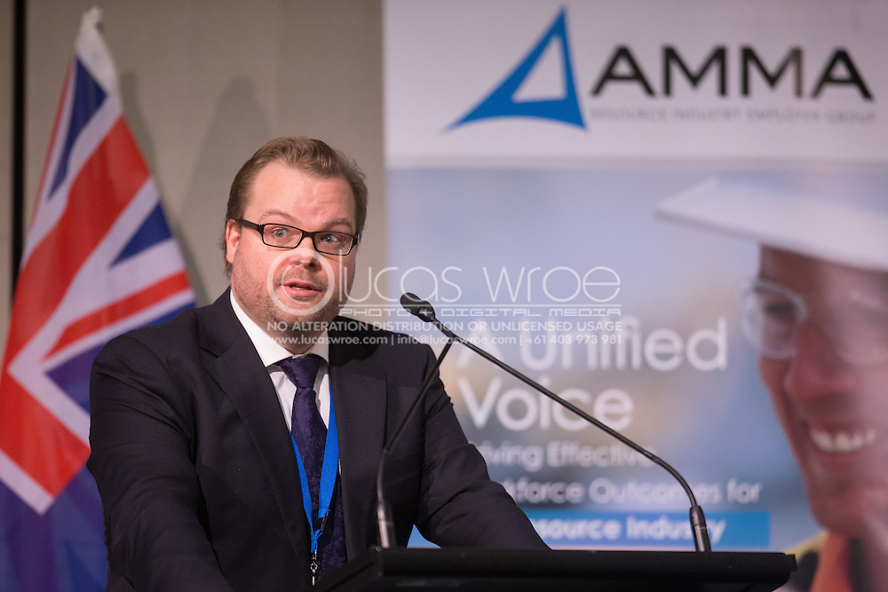 Henry Skene (Partner, Arnold Bloch Leibler). 2013 Australian Mines And Minerals Association Conference. Crown Conference Center, Melbourne, Victoria, Australia. 17/05/2013. Photo By Lucas Wroe