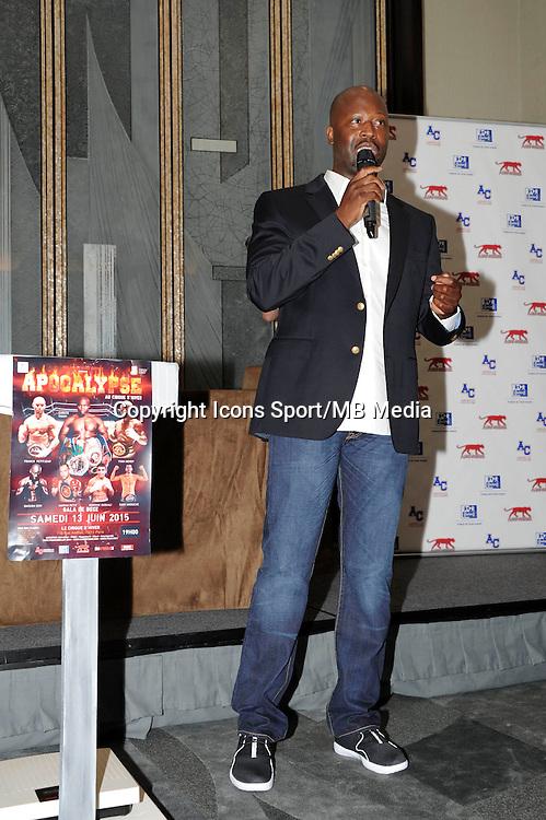 Malamine KONE  - 12.06.2015 - Conference de presse du gala de boxe Apocalypse - Paris<br /> Photo : Nolwenn Le Gouic / Icon Sport