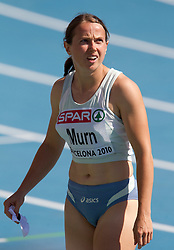 Tina Murn of Slovenia competes in the Womens 100m Heat during day two of the 20th European Athletics Championships at the Olympic Stadium on July 28, 2010 in Barcelona, Spain. (Photo by Vid Ponikvar / Sportida)