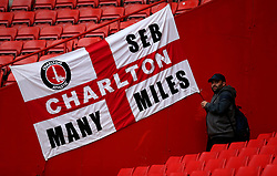 General view of Charlton Athletic fans before the game