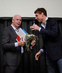 19-04-2012 ALGEMEEN: SPORTIEF MET DIABETES CONGRES: ARNHEM<br /> Het eerste Sportief met Diabetes Congres plaats in Hotel & Congrescentrum Papendal in Arnhem. De Bas van de Goor Foundation kijkt terug op een geslaagde dag met interessante sprekers en enthousiaste deelnemers / Toon Gerbrands en Bas van de Goor<br /> ©2012-FotoHoogendoorn.nl