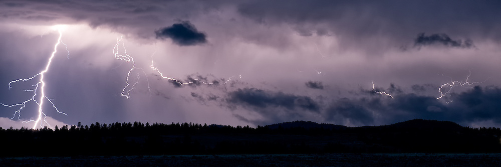 Summer lightning storm in the Wet Mountain valley, Colorado.