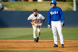 Virginia Cavaliers infielder Tyler Cannon (10) keeps a Duke runner on base.  The Virginia Cavaliers Baseball team fell to the Duke Blue Devils 13-9 in the second of a three game series at Davenport Field in Charlottesville, VA on April 7, 2007.