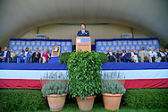 COOPERSTOWN, NY - JULY 26: Randy Johnson speaks during the Induction Ceremony at National Baseball of Hall of Fame on July 26, 2015 in Cooperstown, New York. (Photo by Jennifer Stewart/Arizona Diamondbacks/Getty Images)