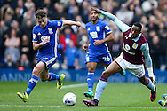 Jonathan Kodjia of Aston Villa (right) competing with Stephen Gleeson of Birmingham City (left) during the Sky Bet Championship match at St Andrews, Birmingham<br /> Picture by Andy Kearns/Focus Images Ltd 0781 864 4264<br /> 30/10/2016