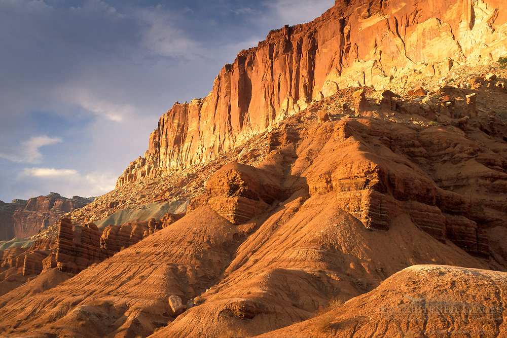 Sunset light on Capitol Reef Capitol Reef National Park, UTAH