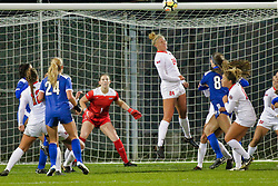 NORMAL, IL - October 17:  Alissa Ramsden during an NCAA Missouri Valley Conference (MVC)  women's soccer match between the Indiana State Sycamores and the Illinois State Redbirds October 17 2018 on Adelaide Street Field in Normal IL (Photo by Alan Look)