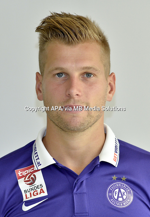 Vienna - Portraits of the football players of the Austrian football club FK Austria Wien on 1st July 2015.   PICTURE: Alexander Grünwald - 20150701_PD2013