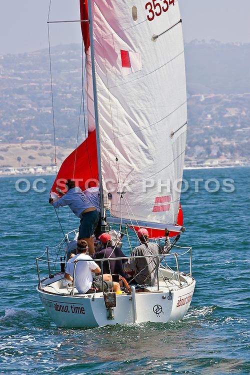 Sailing Off The Coast Of Dana Point Orange County California