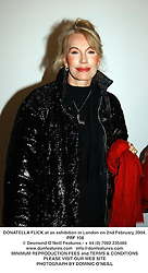 DONATELLA FLICK at an exhibition in London on 2nd February 2004.PRF 108