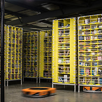 Safety features at the Amazon Distribution Centre in Tilbury, UK. <br /> (C) Blake Ezra Photography Ltd.