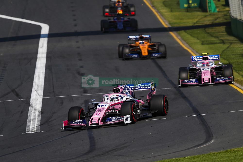 March 17, 2019 - Melbourne, Australia - Motorsports: FIA Formula One World Championship 2019, Grand Prix of Australia, ..#11 Sergio Perez (MEX, Racing Point F1 Team) (Credit Image: © Hoch Zwei via ZUMA Wire)