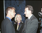 Stephen Daldry, Sally Greene and Peter Mandelson.   New Board of Directors at the Old Vic. October 1998. © Copyright Photograph by Dafydd Jones 66 Stockwell Park Rd. London SW9 0DA Tel 020 7733 0108 www.dafjones.com