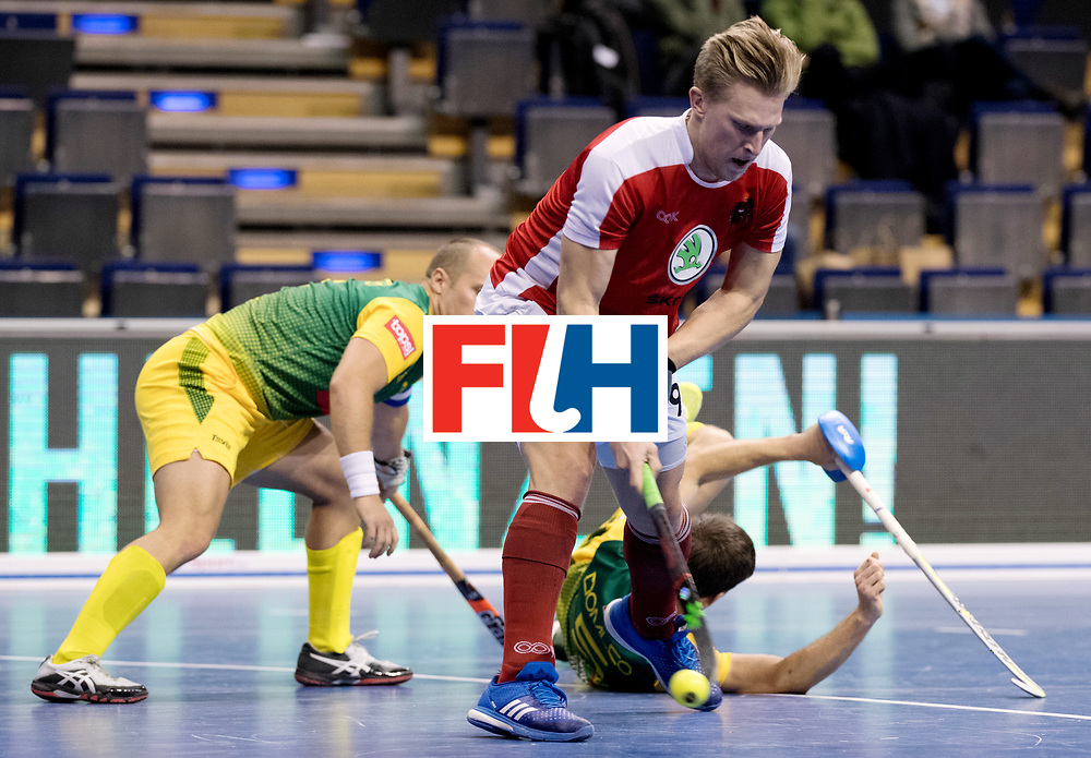 BERLIN - Indoor Hockey World Cup<br /> Men: Austria - South Africa<br /> foto: Michael K&ouml;rper.<br /> WORLDSPORTPICS COPYRIGHT FRANK UIJLENBROEK