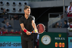 May 13, 2018 - Madrid, Madrid, Spain - DOMINIC THIEM serves in a match against ALEXANDER ZVEREV during the final of Mutua Madrid Open 2018 - ATP in Madrid. (Credit Image: © Patricia Rodrigues via ZUMA Wire)