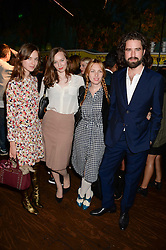 Left to right, VALENTINE FILLOL-CORDIER, LOU HAYTER, JOSEPHINE DE LA BAUME and JACK GUINNESS at the the London Collections: Men 2013 Ben Sherman and Shortlist Magazine party at Sketch, Conduit Street, London on 18th June 2013.