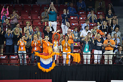 Dutch supporters <br /> Kur<br /> Reem Acra FEI World Cup™ Dressage Final<br /> Las Vegas 2015<br />  © Hippo Foto - Dirk Caremans<br /> 19/04/15