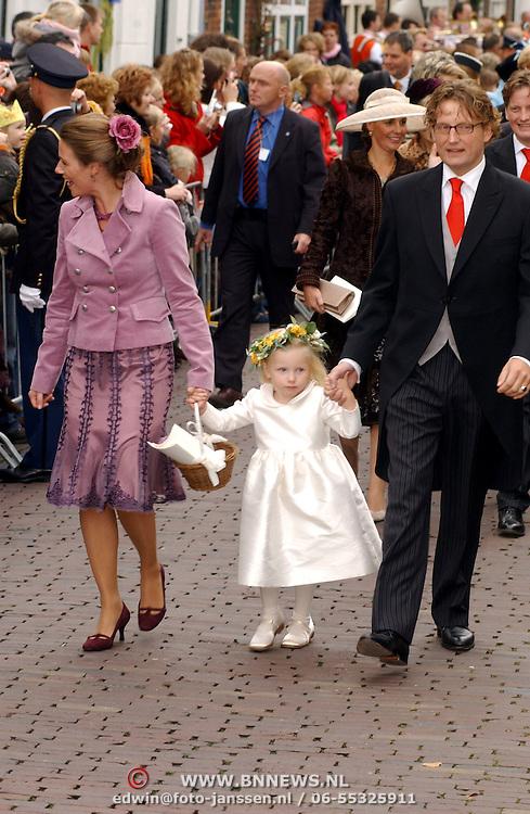 NLD/Naarden/20051022 - Huwelijk prins Floris en Aimee Söhngen, bruidsmeisje Isabelle, Annete Sekreve, prins Bernhard Jr.